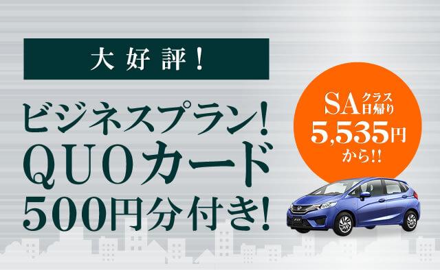 大好評 ! ビジネスプラン! QUOカード500円分付き!